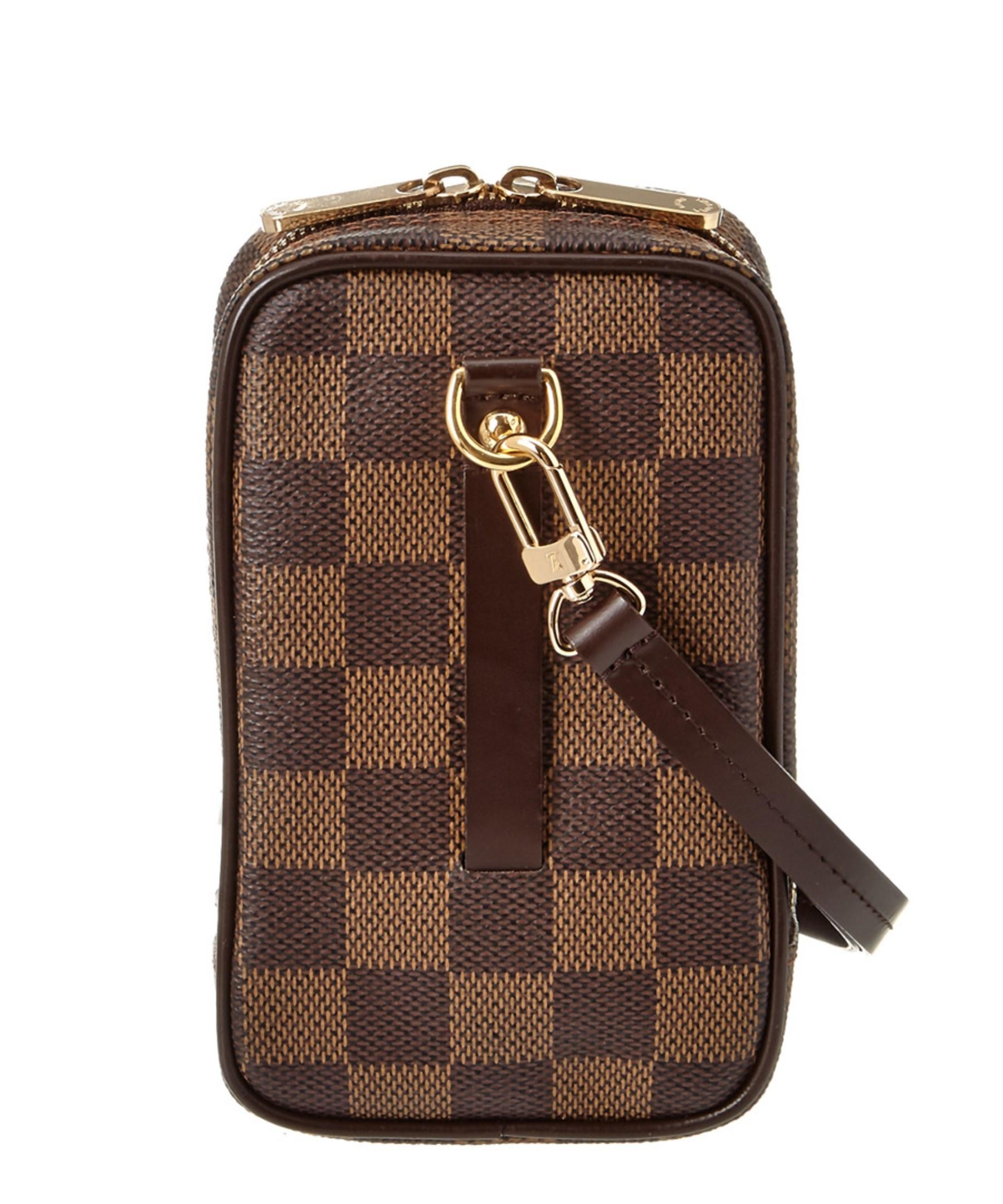 louis vuitton damier ebene canvas etui okapi pm in brown. Black Bedroom Furniture Sets. Home Design Ideas