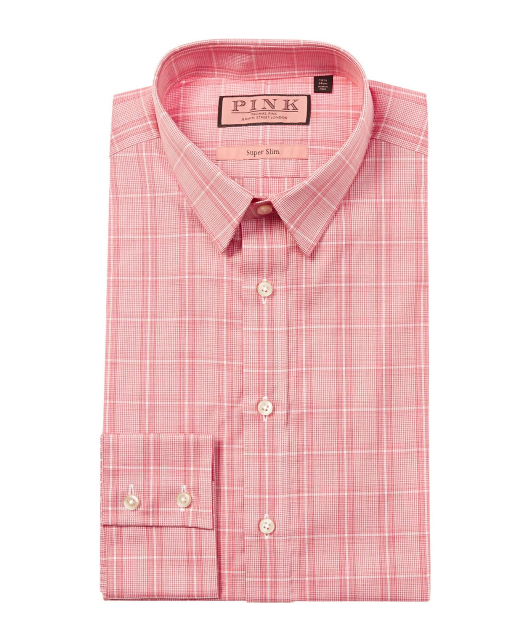 Thomas Pink Super Slim Fit Dress Shirt In Red For Men Lyst