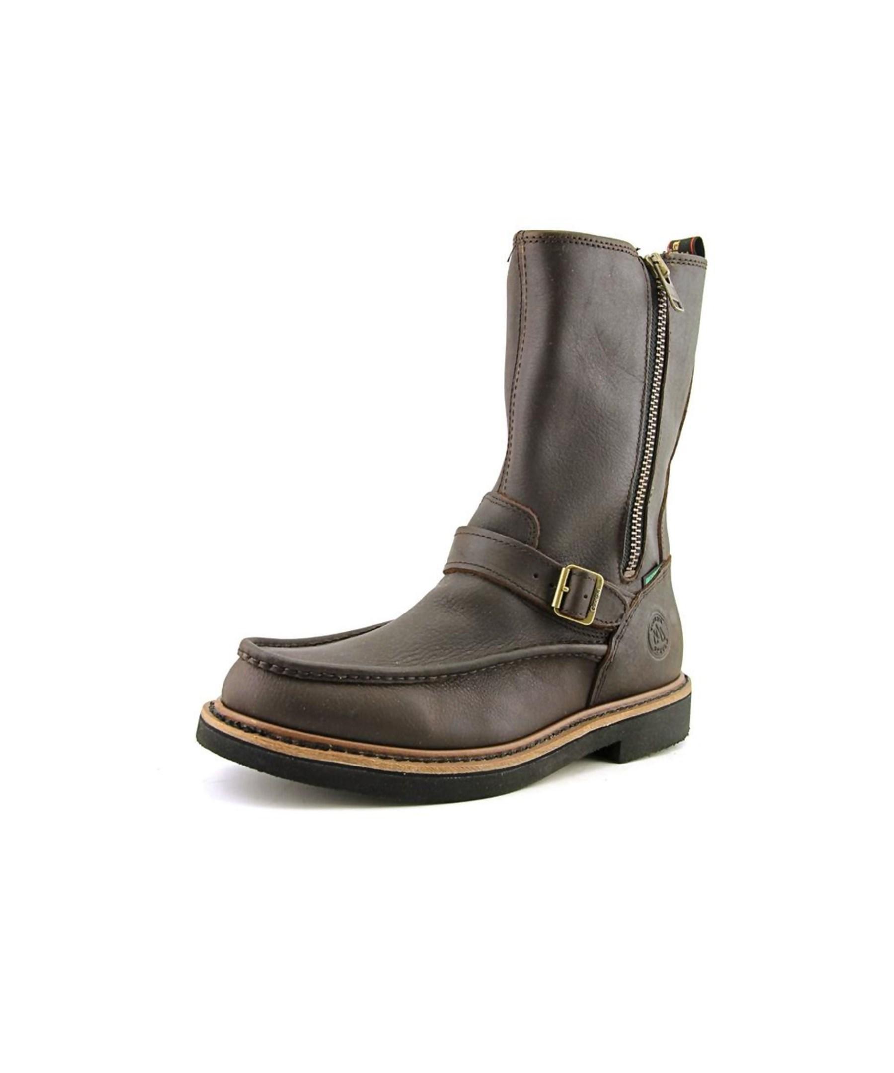 Georgia Boot Side Zip Moc Toe Wellington W Round Toe