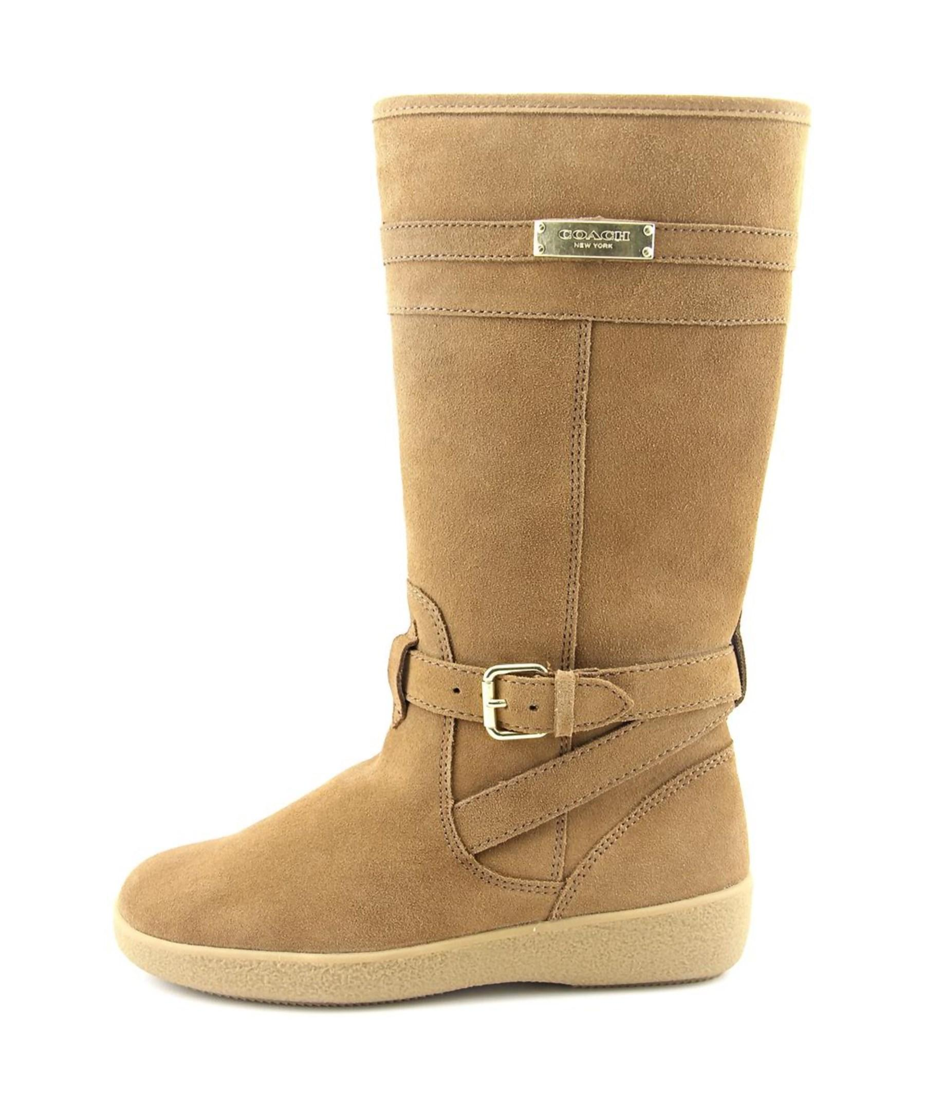 coach tallulah toe suede knee high boot in