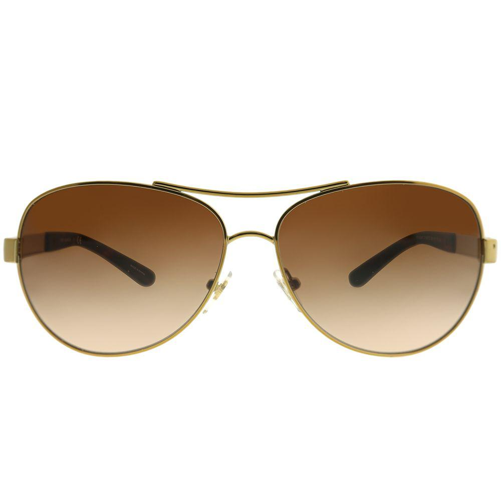 416bef8feb5 Tory Burch - Metallic Ty 6047 316013 59mm Gold Aviator Sunglasses - Lyst.  View fullscreen