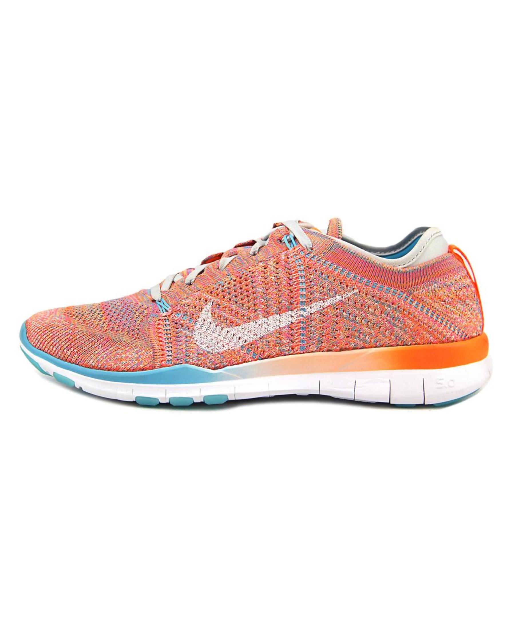 c616c6e30fbfc Lyst - Nike Free Tr Flyknit Women Round Toe Synthetic Running Shoe ...