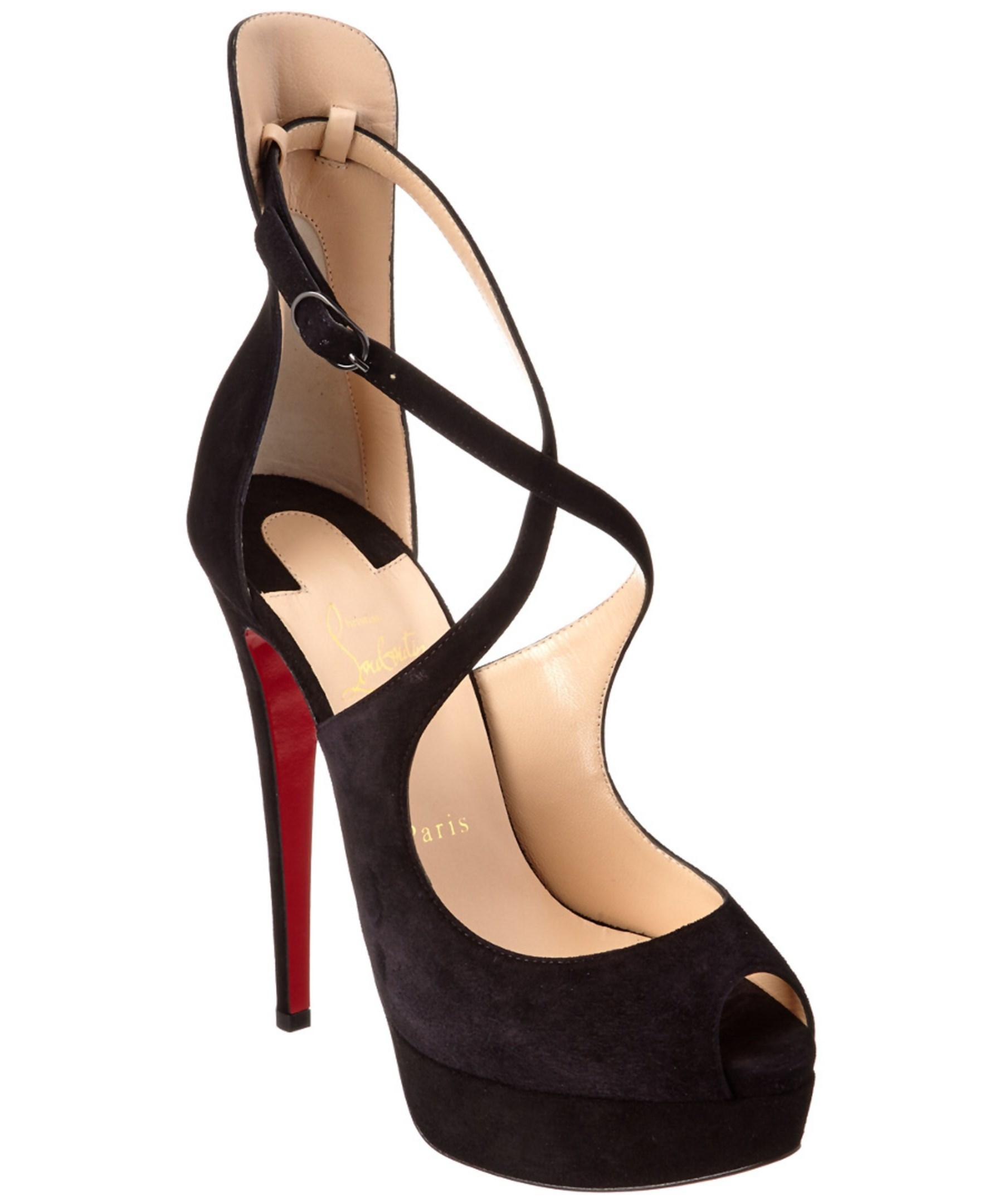 a722cd45e31 Lyst - Christian Louboutin Marlenalta 150 Suede Platform Pump in Black