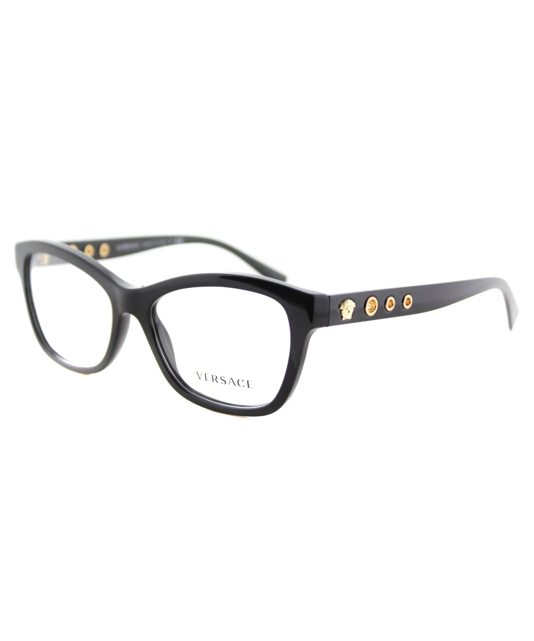 Versace Glasses Frames Cat Eye : Versace Cat-eye Plastic Eyeglasses in Black Lyst