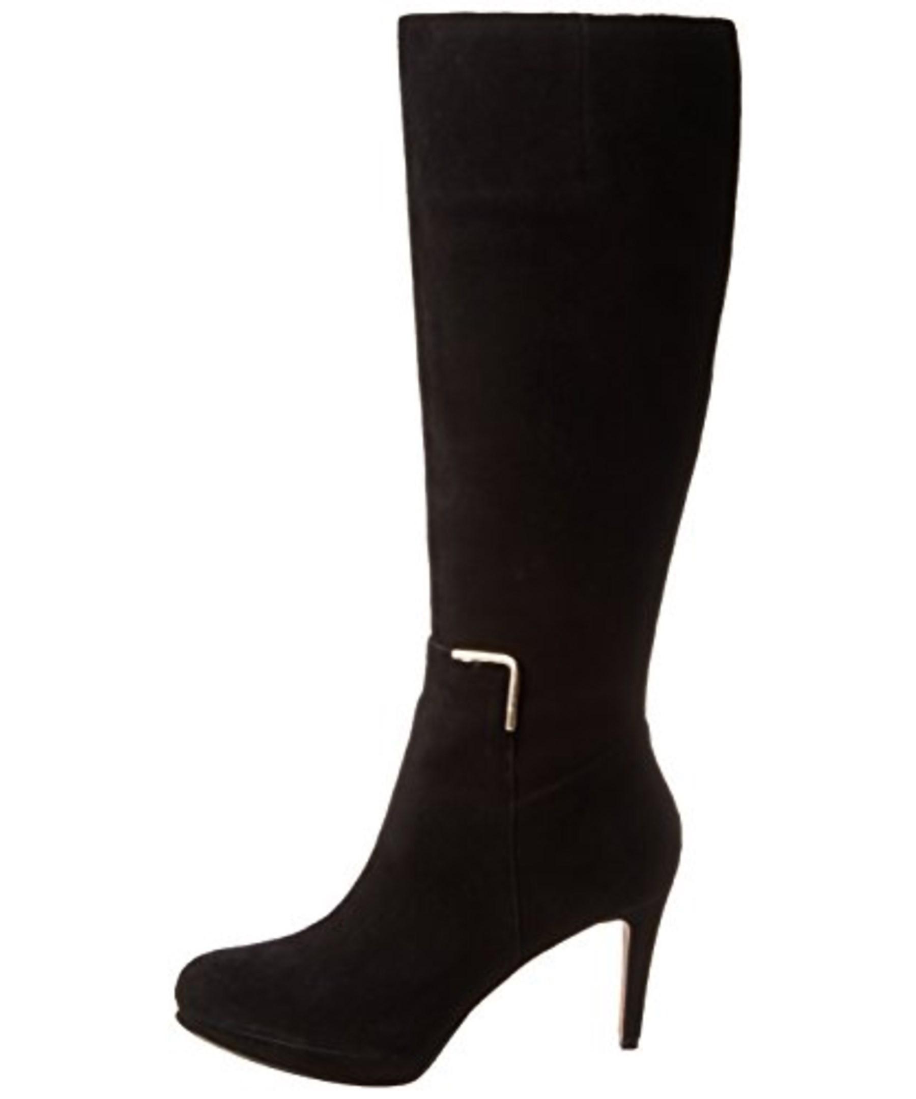 nine west s evah suede knee high heeled dress boots