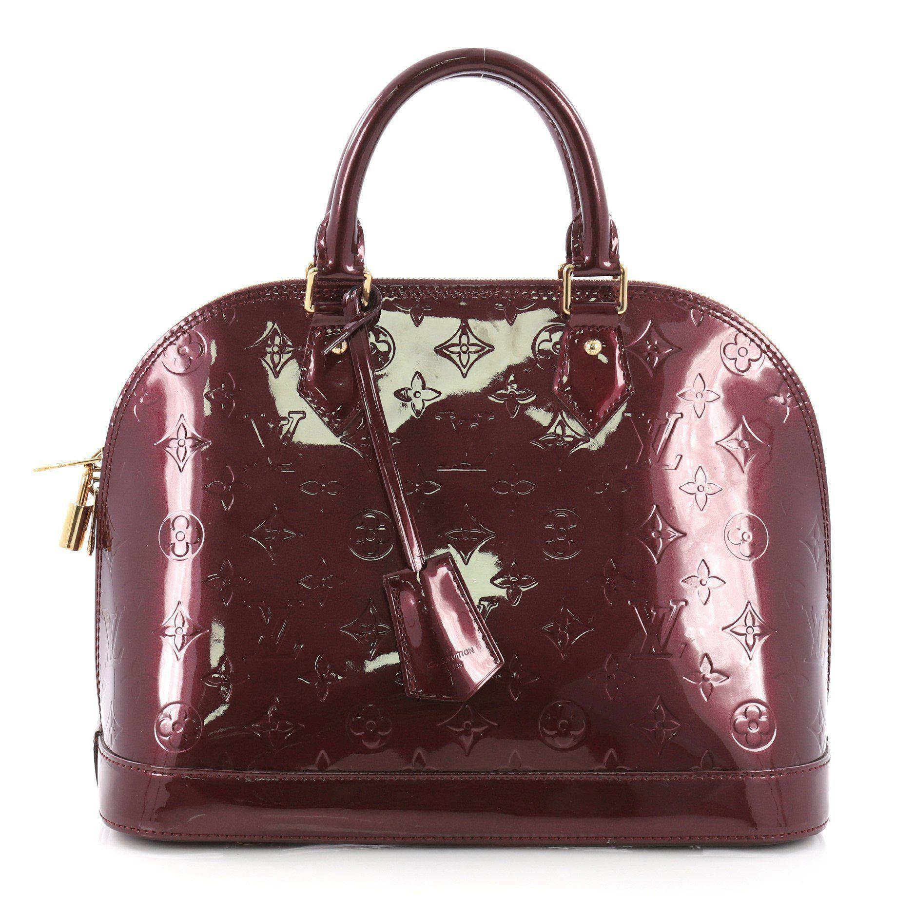 caf1fe160692 Louis Vuitton. Women s Pre Owned Alma Handbag Monogram Vernis Pm