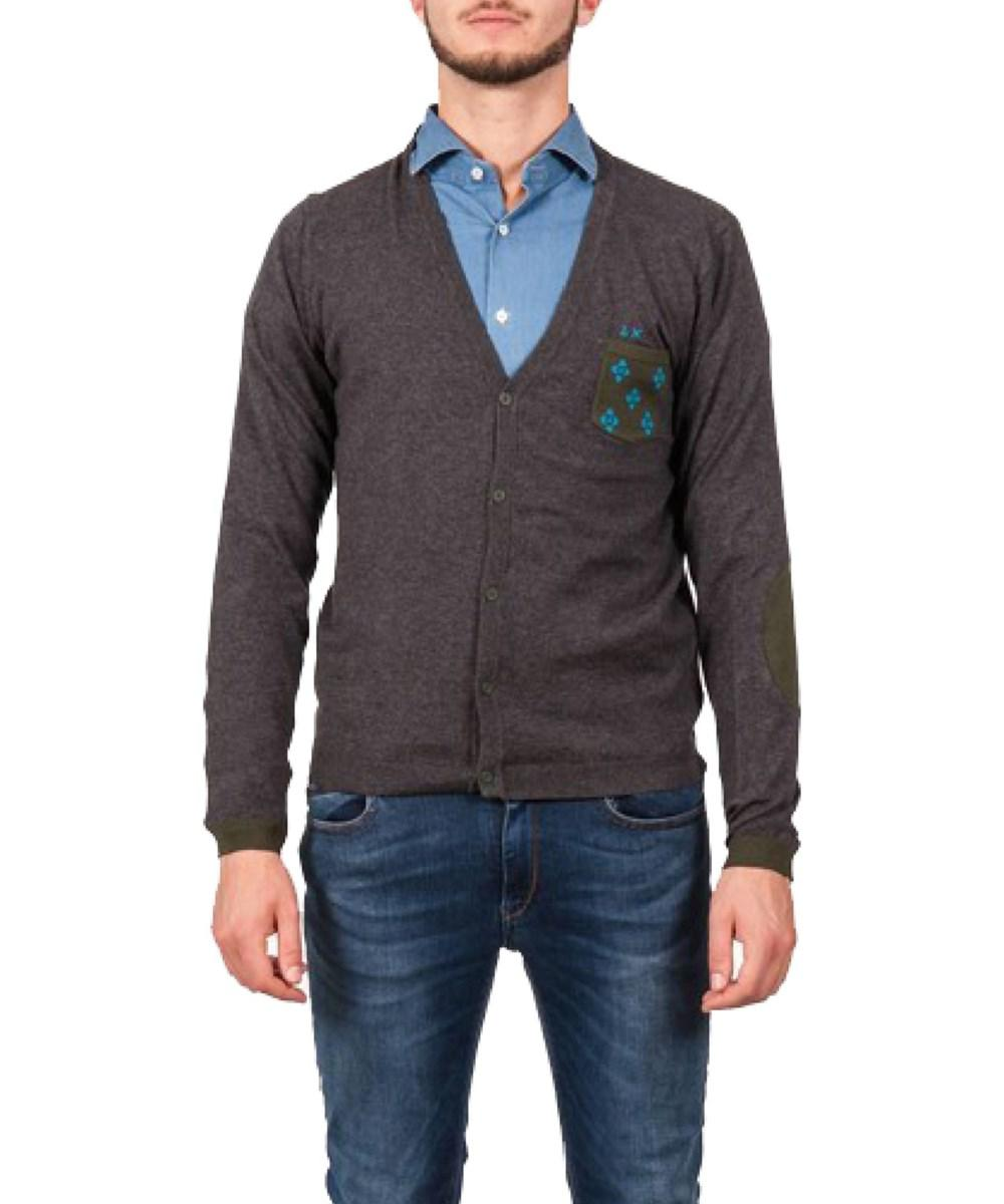 Sun 68 Men's Grey Cotton Cardigan in Gray for Men | Lyst