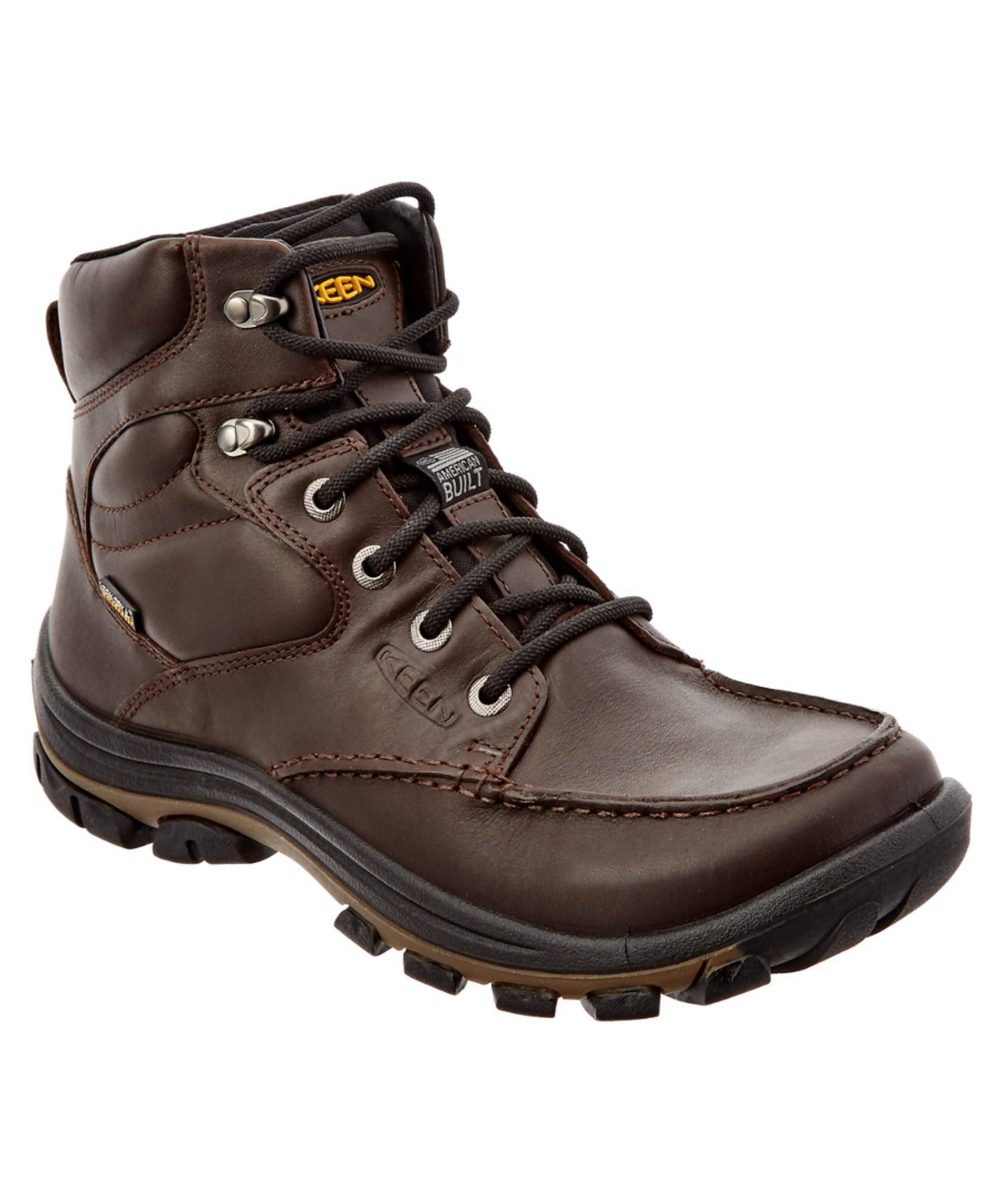 keen s anchor park waterproof leather boot in brown