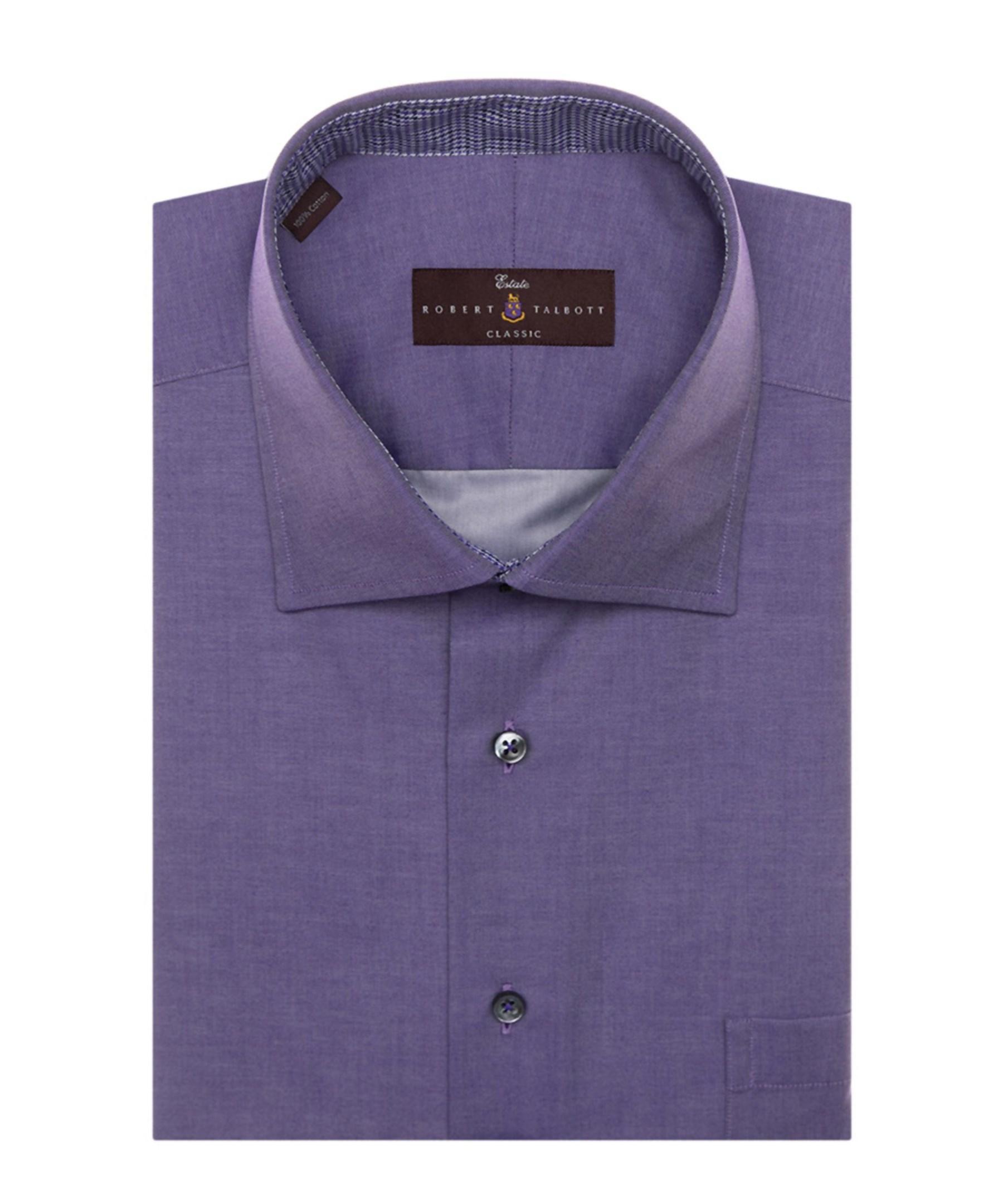 Robert talbott estate sutter classic dress shirt in purple for Robert talbott shirts sale