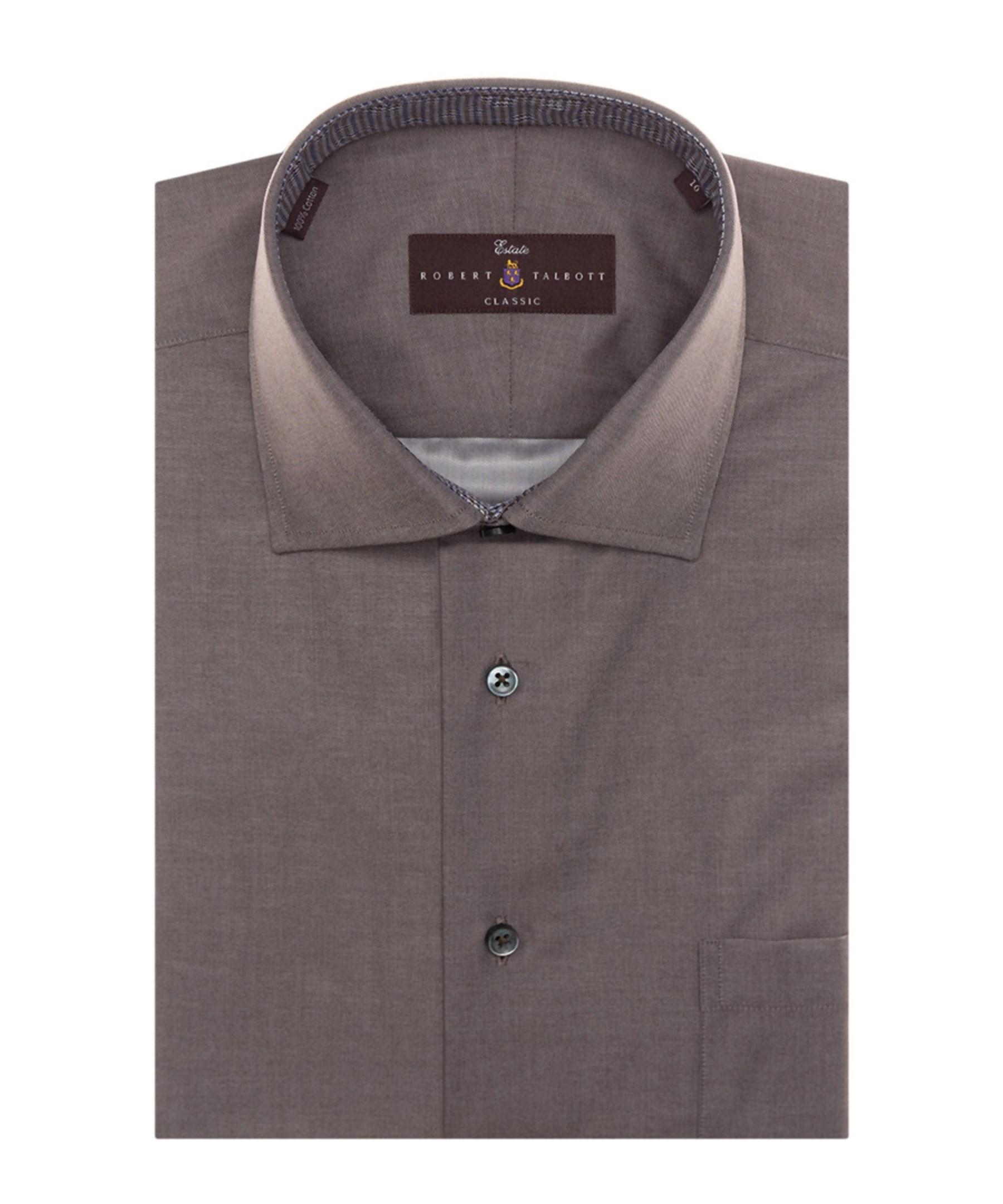 Robert talbott estate sutter classic dress shirt in brown for Robert talbott shirts sale