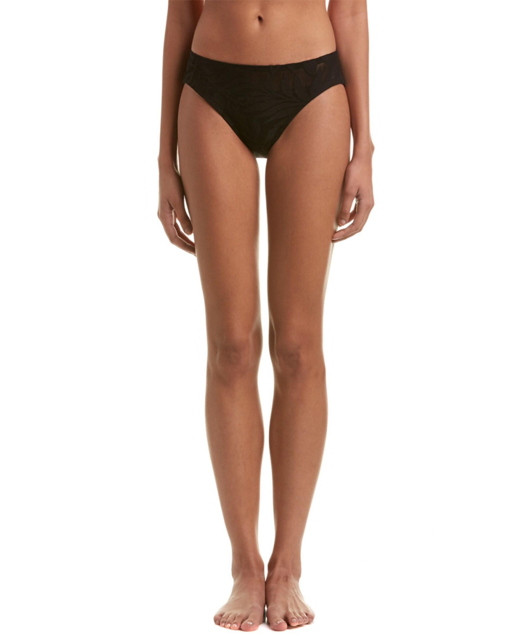 Robin Piccone Illusion Hipster Bottom In Black Lyst