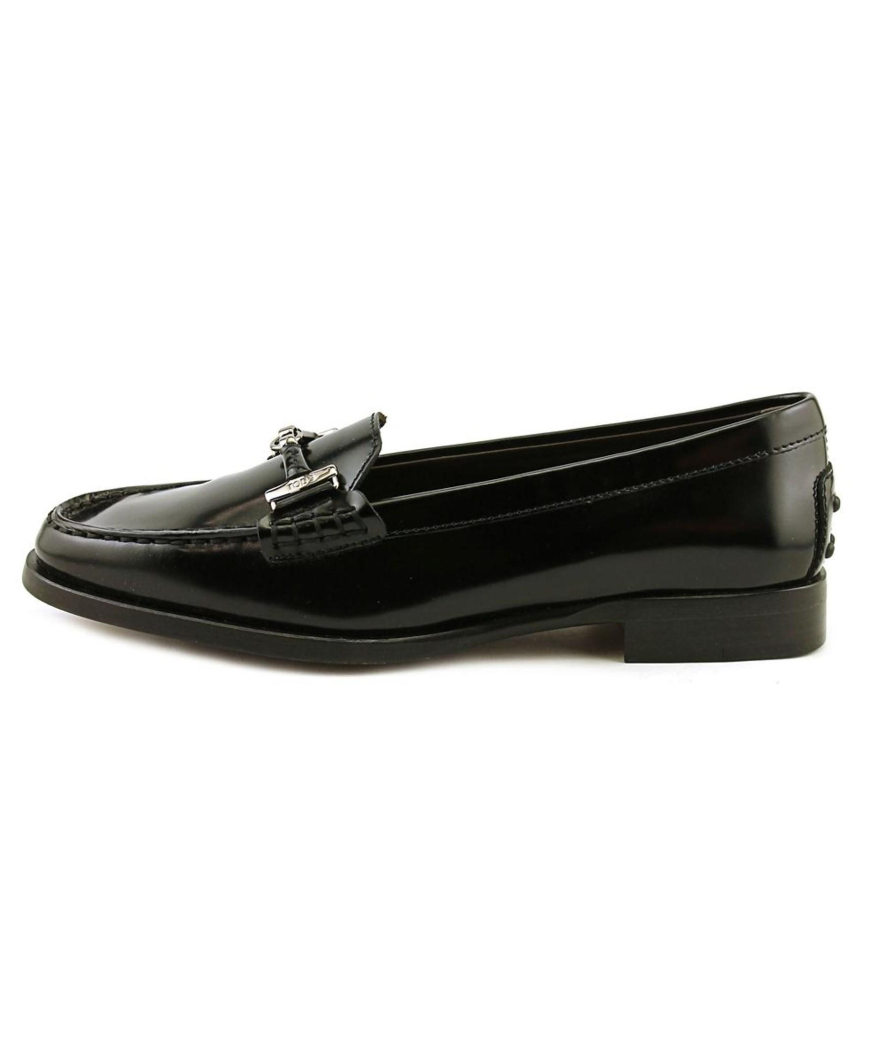 80e5f70f4c9 Lyst - Tod S N. Citta Doppia T Pelle Youth Apron Toe Leather Black ...