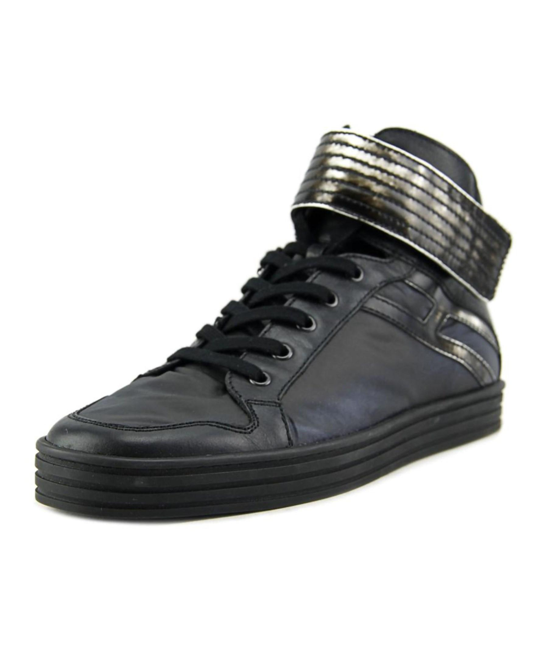 hogan r141 nuovo basket strap synthetic fashion sneakers in black for men lyst. Black Bedroom Furniture Sets. Home Design Ideas