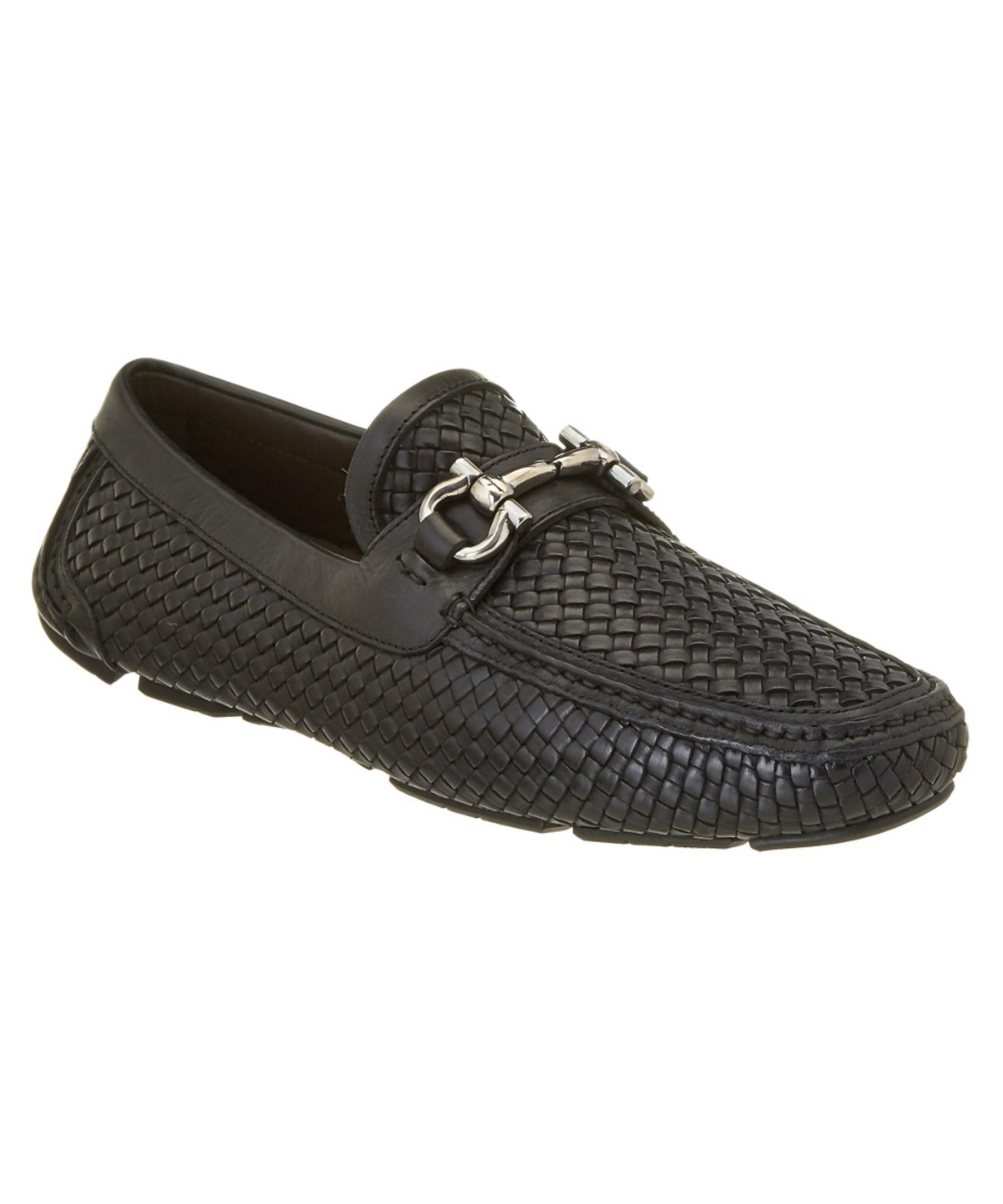 Mens Black Woven Shoes