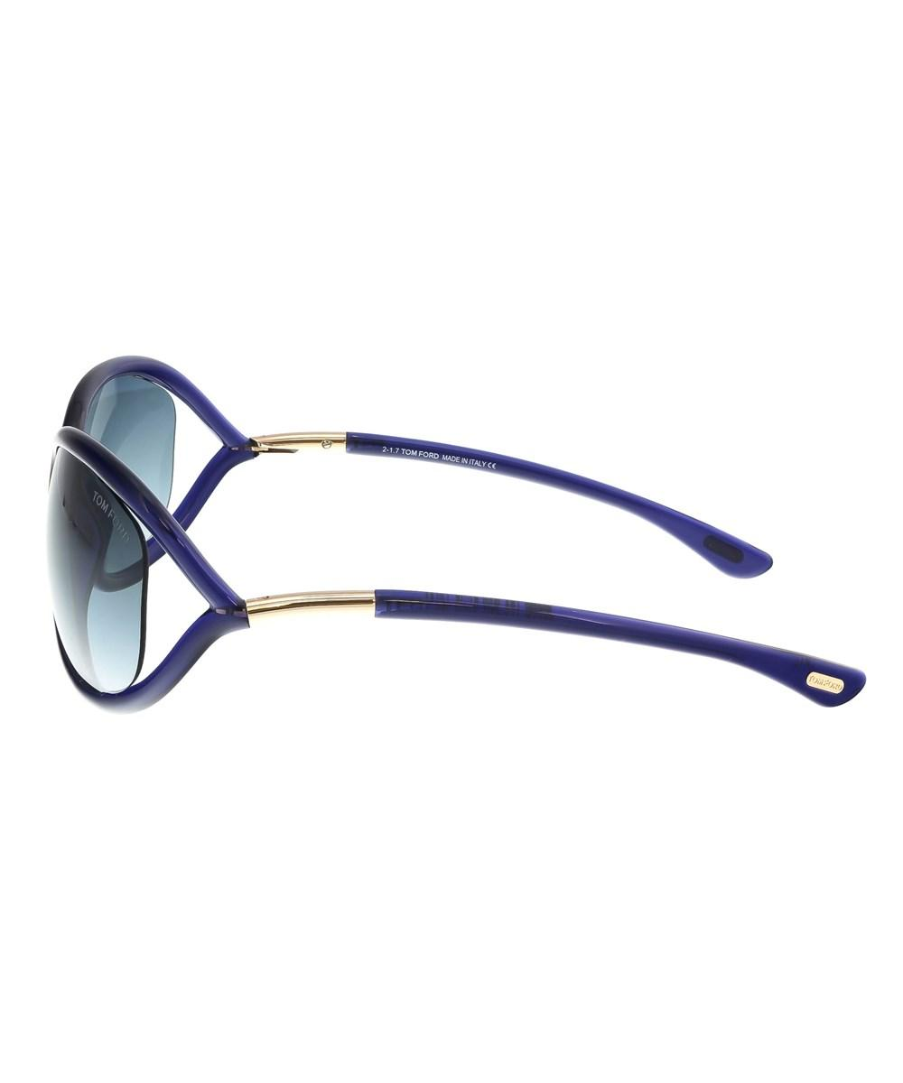d376ceb11a2 Lyst - Tom Ford Ft0008 s 90w Jennifer Navy Blue Oval Sunglasses in Blue