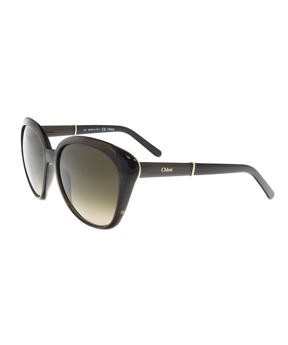 7ec5d837f86 Lyst - Chloé Ce648 s 303 Dark Khaki Cateye Sunglasses in Gray