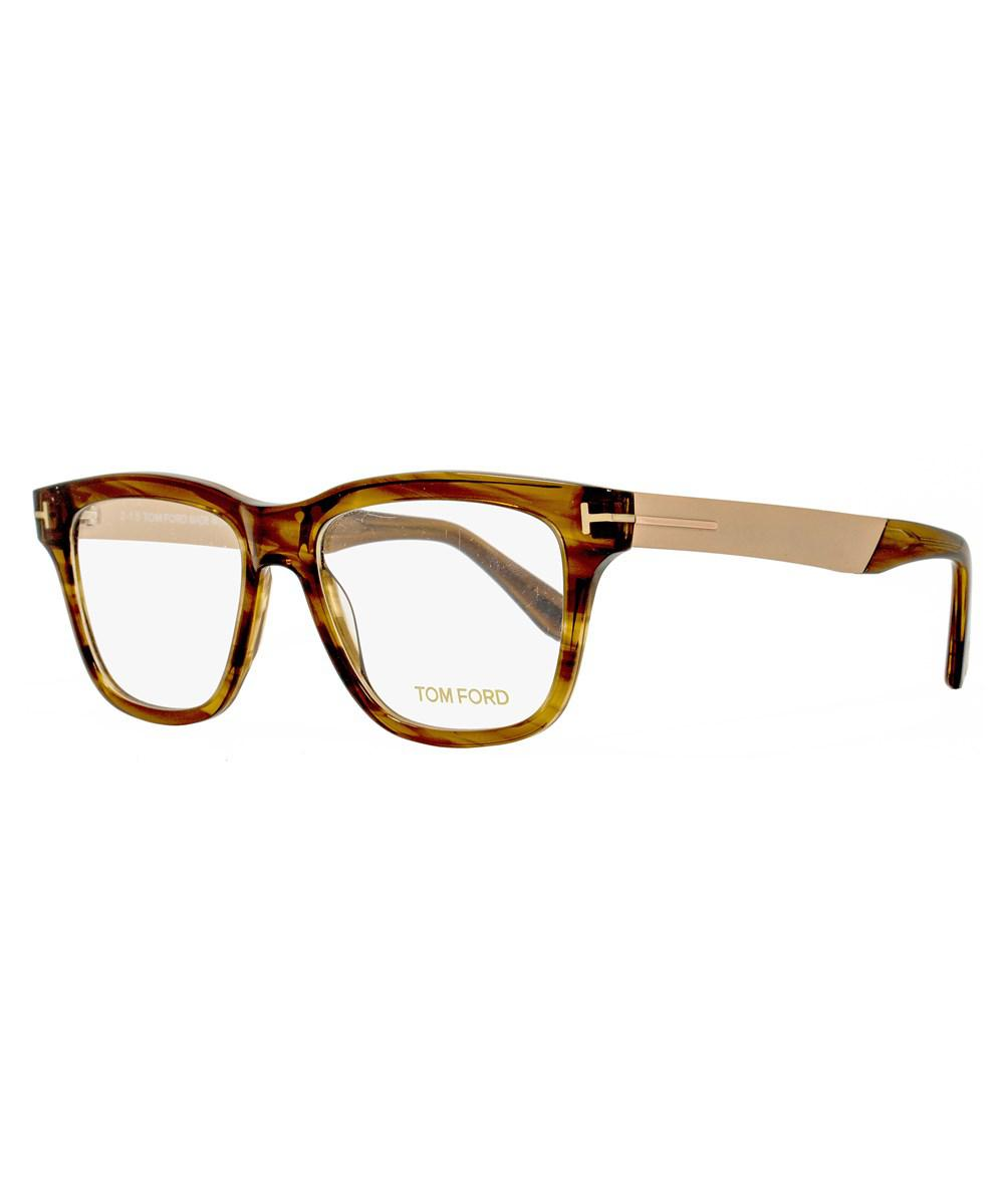 1069f0ae66e Lyst - Tom Ford Square Eyeglasses Tf5372 048 Size  52mm Brown ...