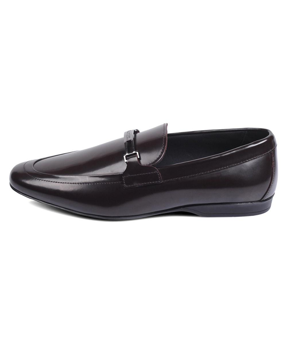 e2450367930 Lyst - Versace Versace Collection Leather Loafer in Brown for Men