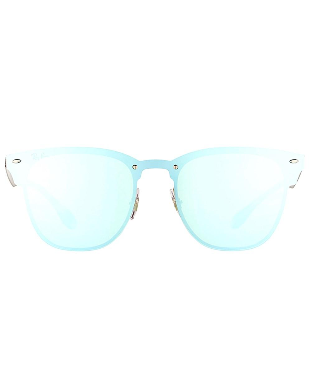 ec314ea2ccc15 Ray-Ban Blaze Clubmaster Rb 3576n 042 30 41mm Brusched Silver Sunglasses in  Metallic - Lyst