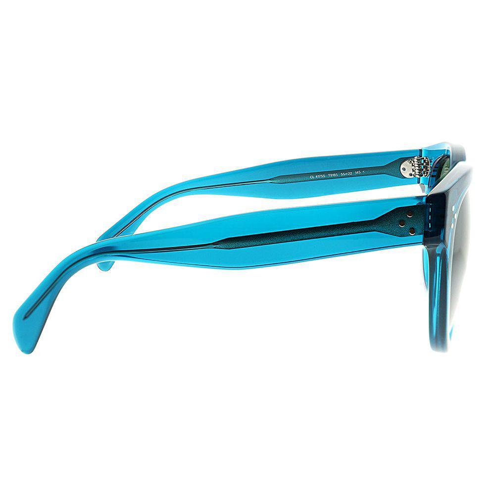 5c5eeaf0d331 Céline - Cl 41755s T91 55 Transparent Blue Cat-eye Sunglasses - Lyst. View  fullscreen