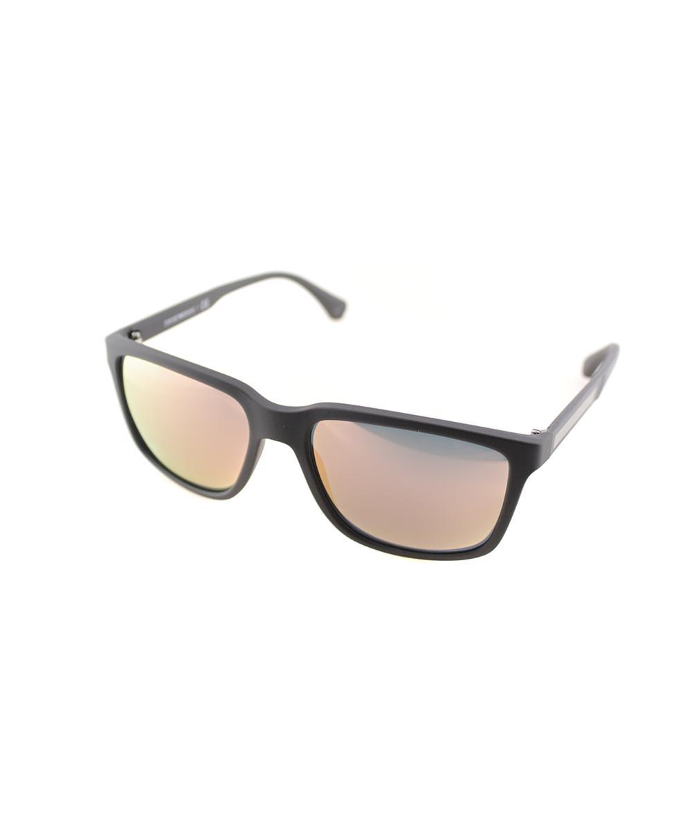 27b3665ef52e3 Lyst - Emporio Armani Square Plastic Sunglasses in Brown