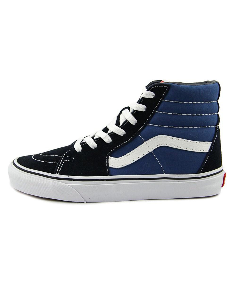 ce8ffbc915 Lyst - Vans Sk8-hi Round Toe Canvas Skate Shoe in Blue for Men