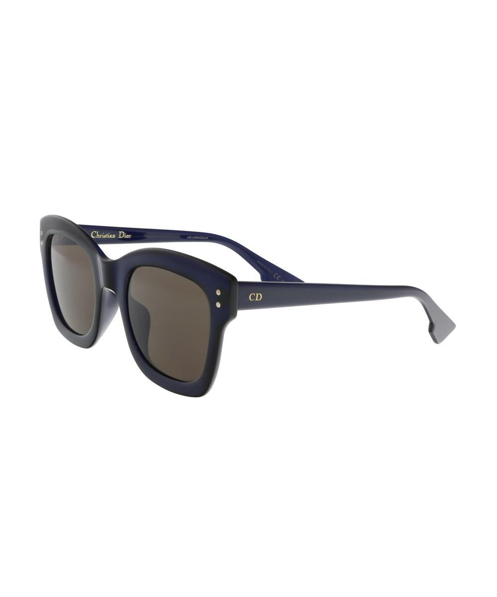 b93a228cf70 Lyst - Dior Diorizon2 Pjp Midnight Blue Square Sunglasses in Blue