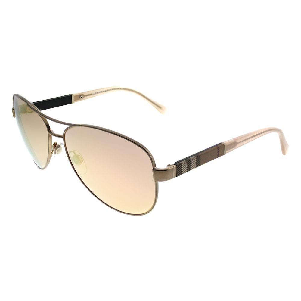 c308311875 Lyst - Burberry 0be3080 12357j Matte Gold Aviator Sunglasses in Metallic