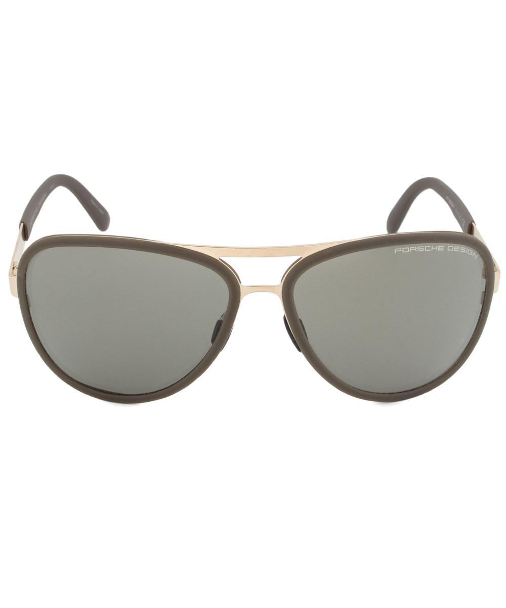 fe5c4769dab Lyst - Porsche Design Design P8567 B Aviator Sunglasses