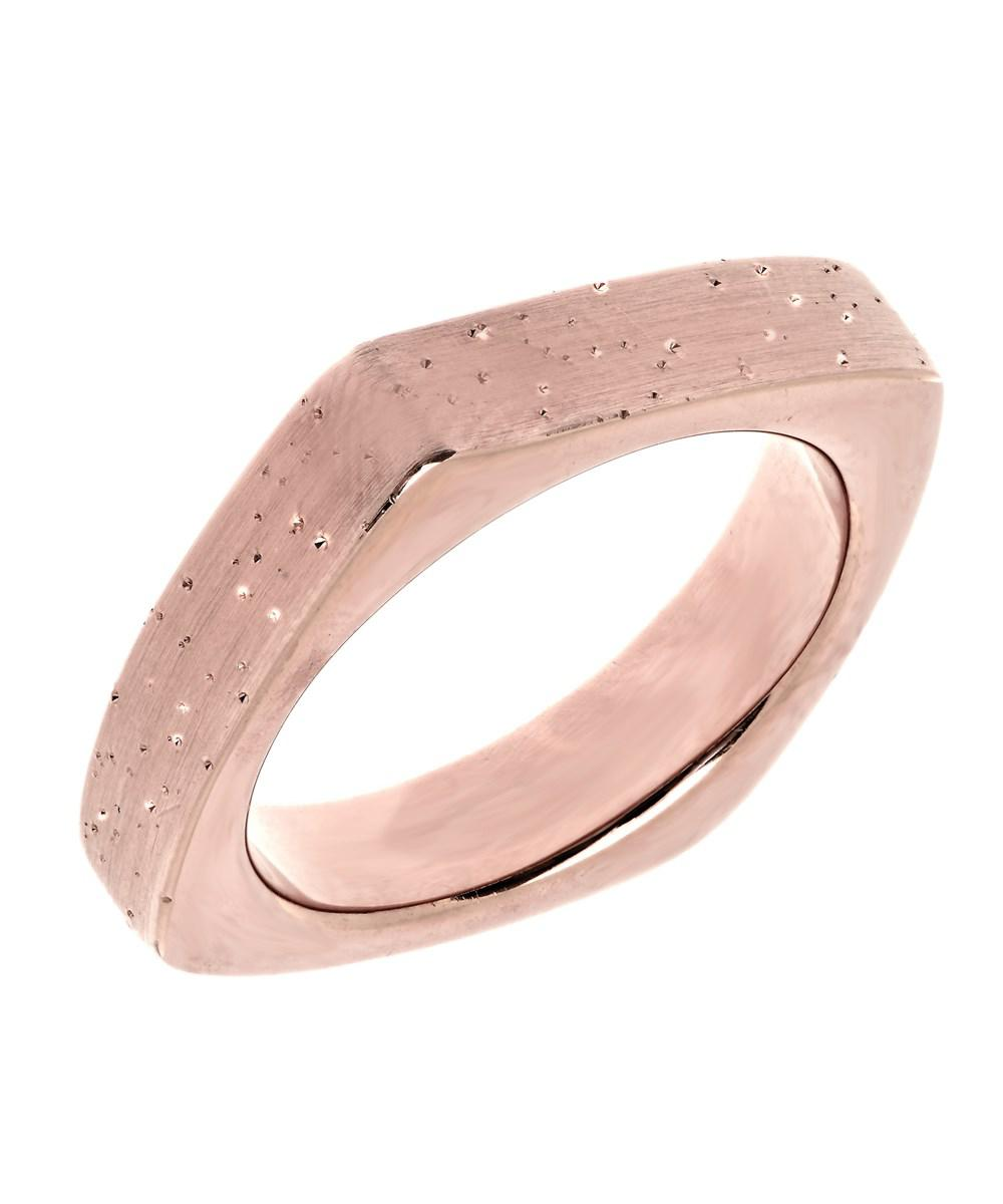Lyst - Jewelryaffairs Sterling Silver With Rose Plating Square Look ...