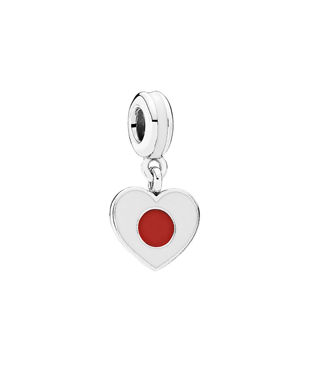 bd77636c6 ... autumn 2014 japanese doll 2a Lyst - Pandora Silver Enamel Japan Heart  Flag Charm in Red ...