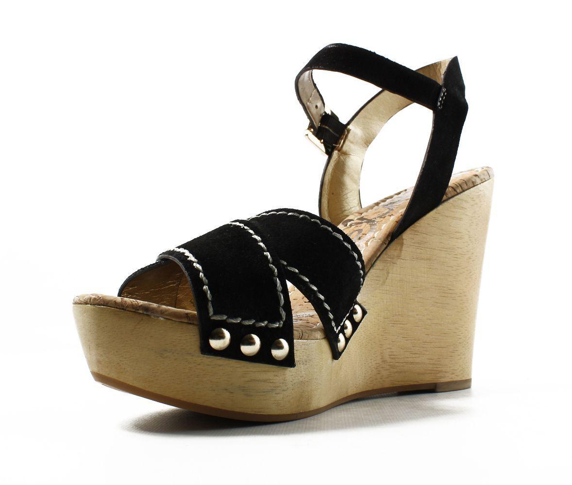 b6cd8f8719c31a Sam Edelman - Womens Cairo Black Ankle Strap Heels - Lyst. View fullscreen