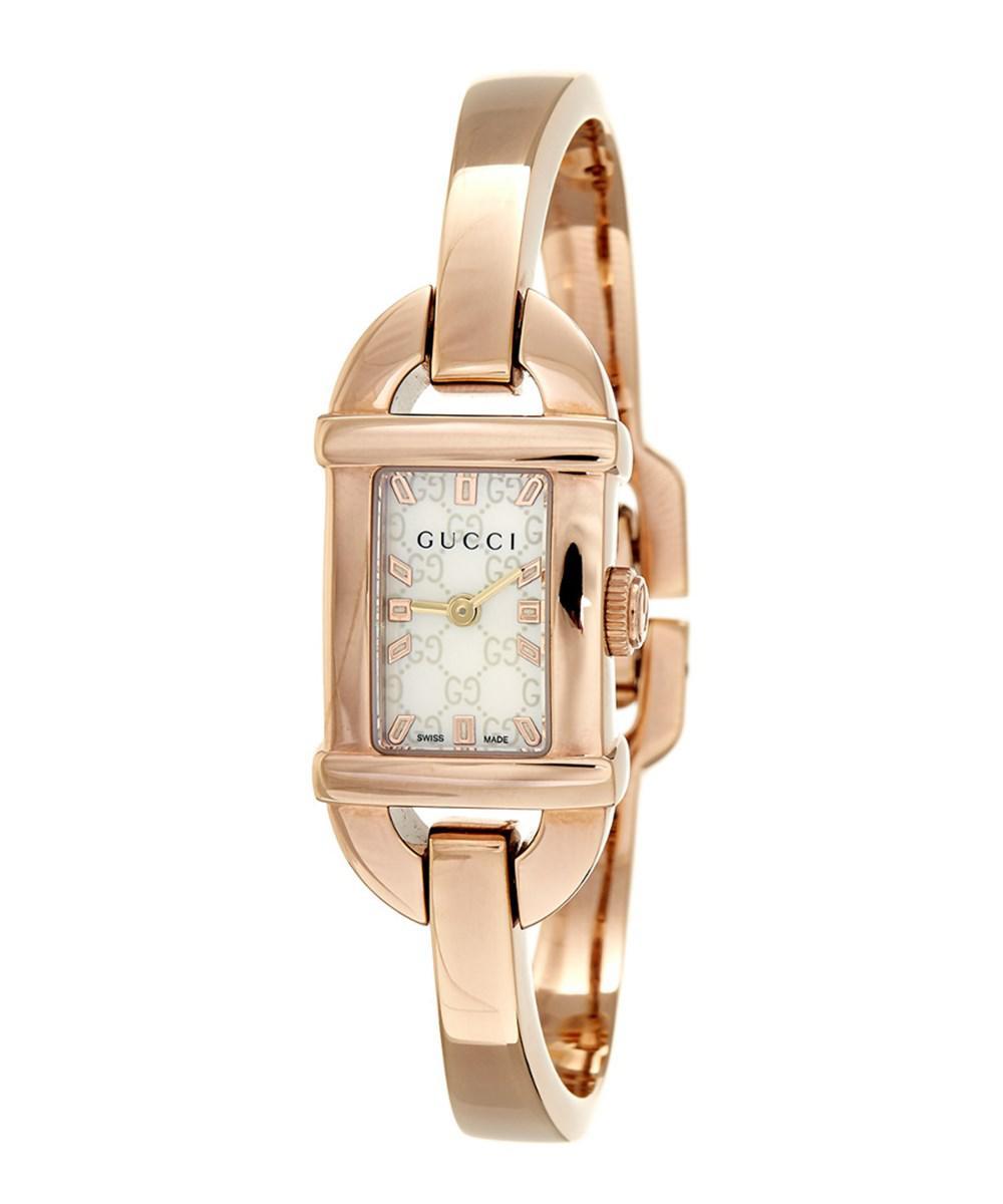 21d8cdc111d Gucci - Metallic Women s Stainless Steel Watch - Lyst. View fullscreen