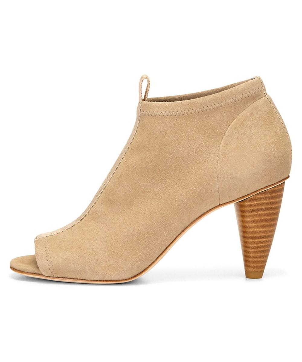 Lyst Donald J Pliner Natural Pru Suede Bootie in Natural Pliner Save b189da