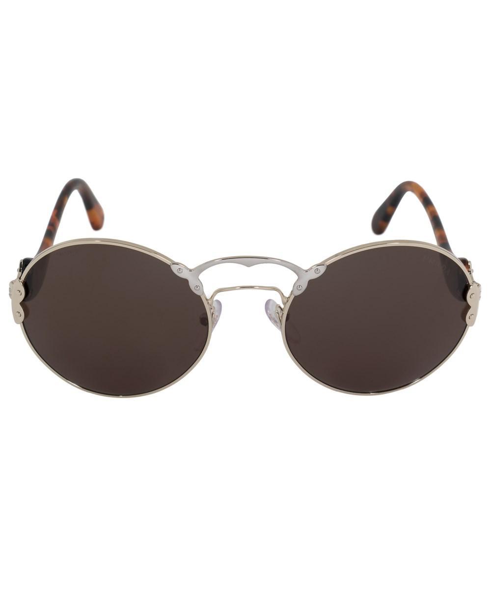 a580b0c6a832 Lyst - Prada Wanderer Round Sunglasses Pr55ts Zvn4j1 57