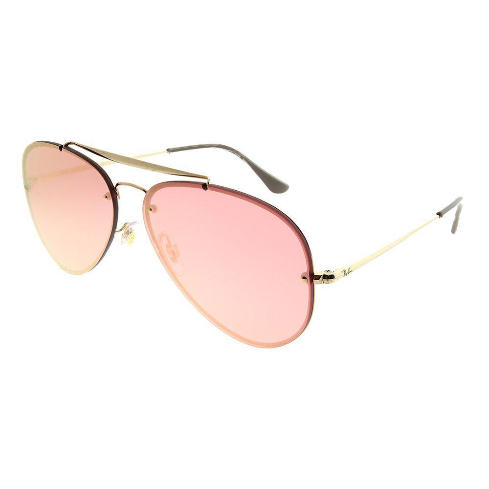 e0af957bbd7 Ray-Ban. Women s Blaze Aviator Rb 3584n 9052e4 61mm Gold Aviator Sunglasses
