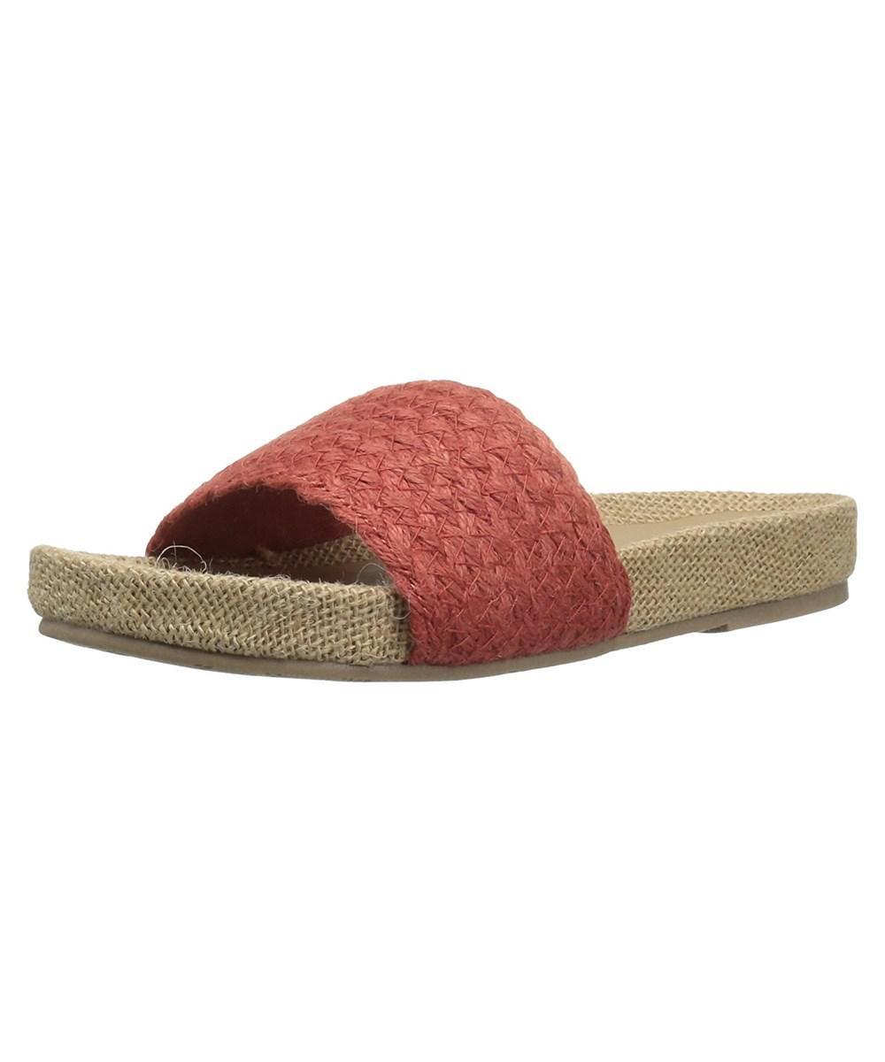 b8cf5ffff9a Lyst - Mia Womens Linara Canvas Open Toe Casual Slide Sandals in Brown