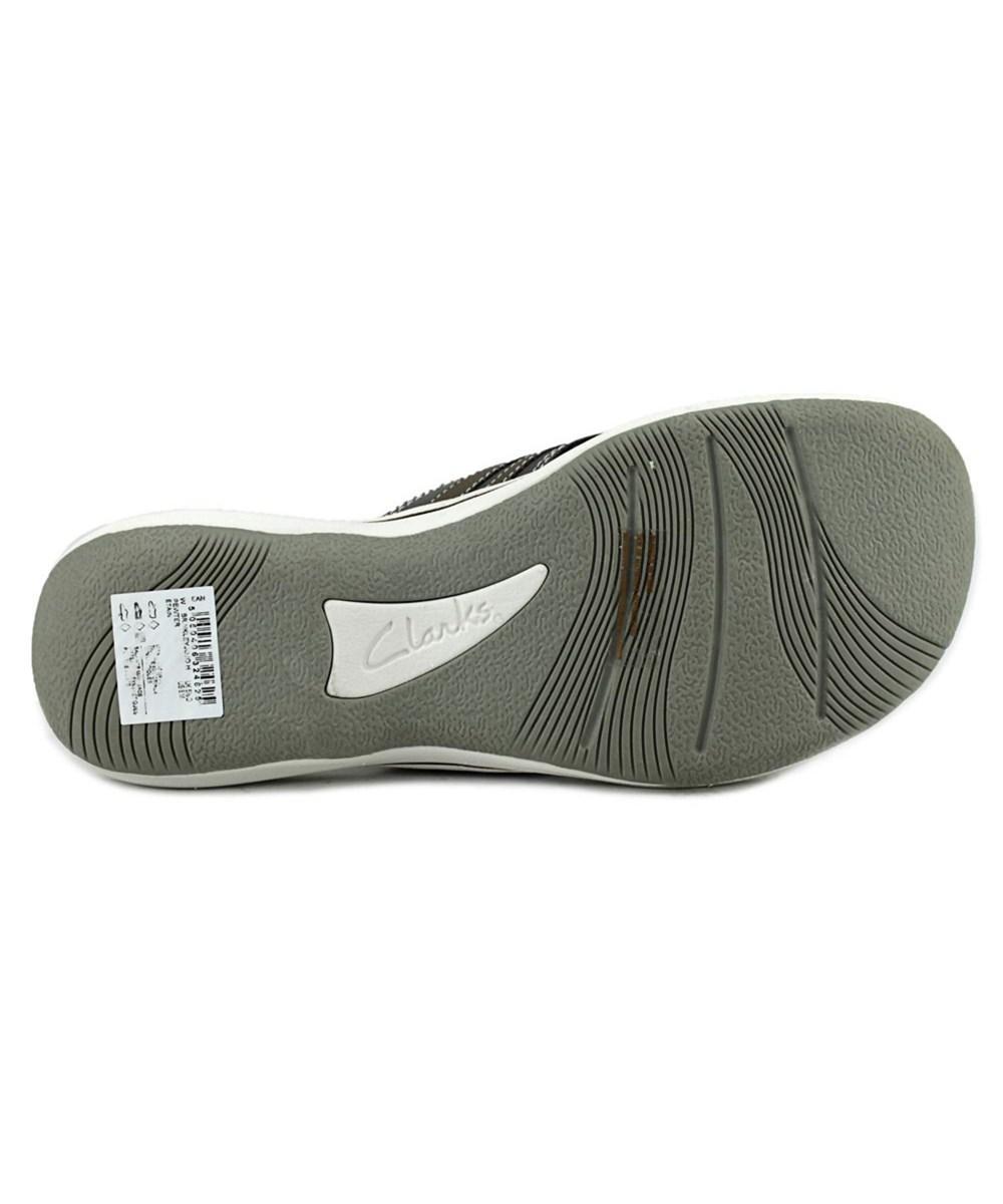 ab50b5ed75e550 Lyst - Clarks Brinkley Jojo Women Open Toe Canvas Bronze Flip Flop ...