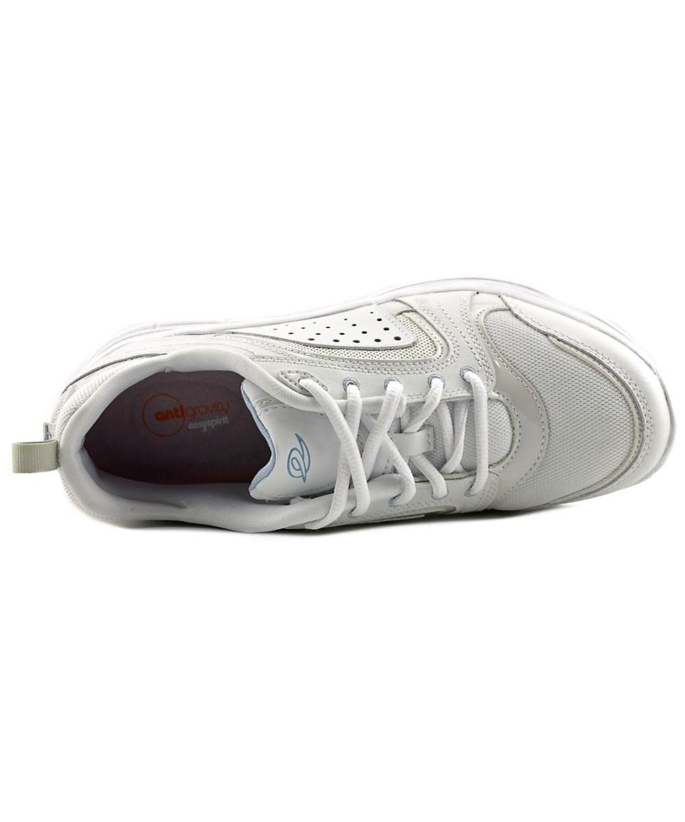b37accdbf53 Lyst - Easy Spirit Lite Walk Women Round Toe Leather White Walking ...