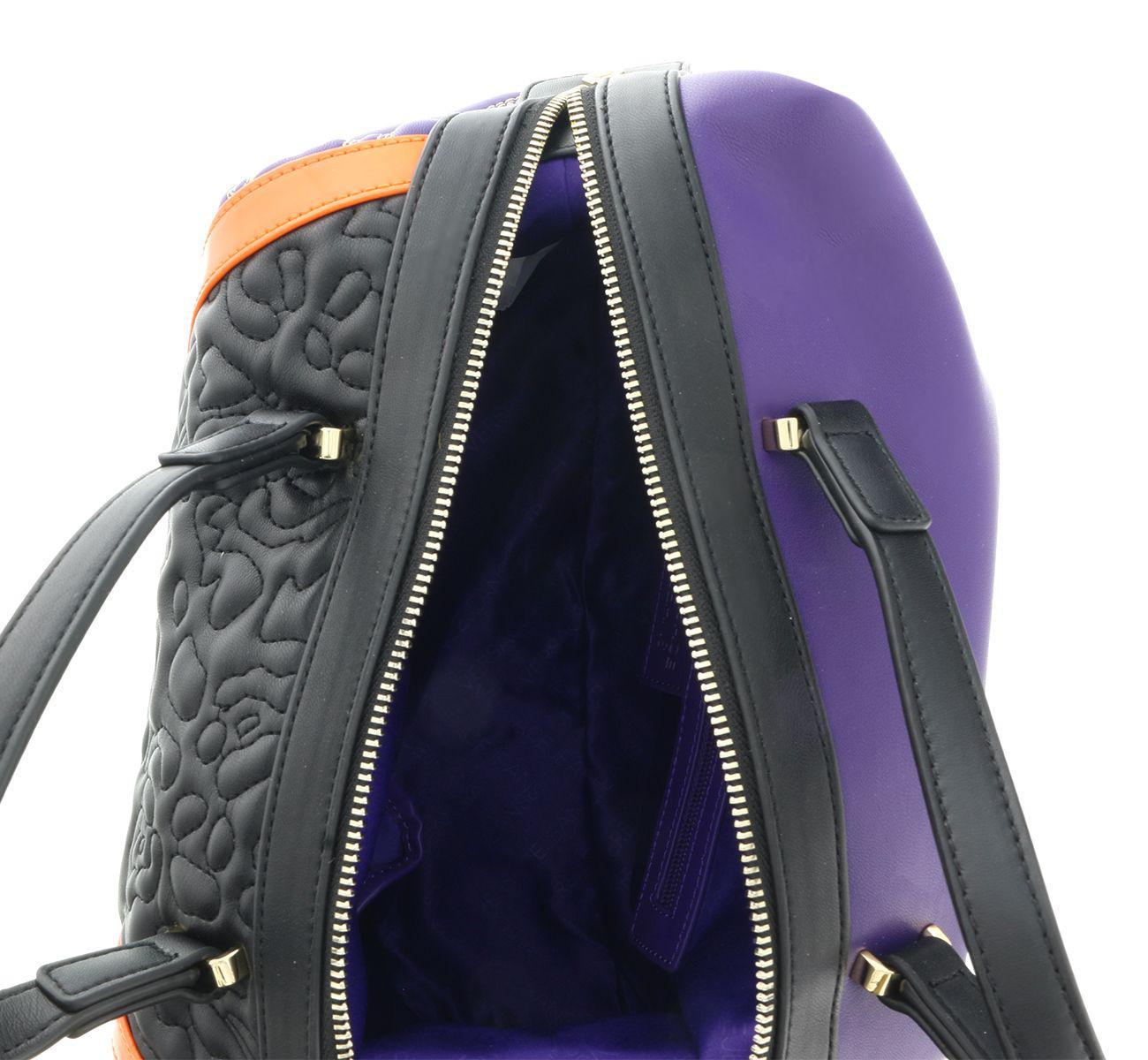 27bfd3f9113d Versace - Ee1vobbk3 Emgh Black purple Satchel - Lyst. View fullscreen