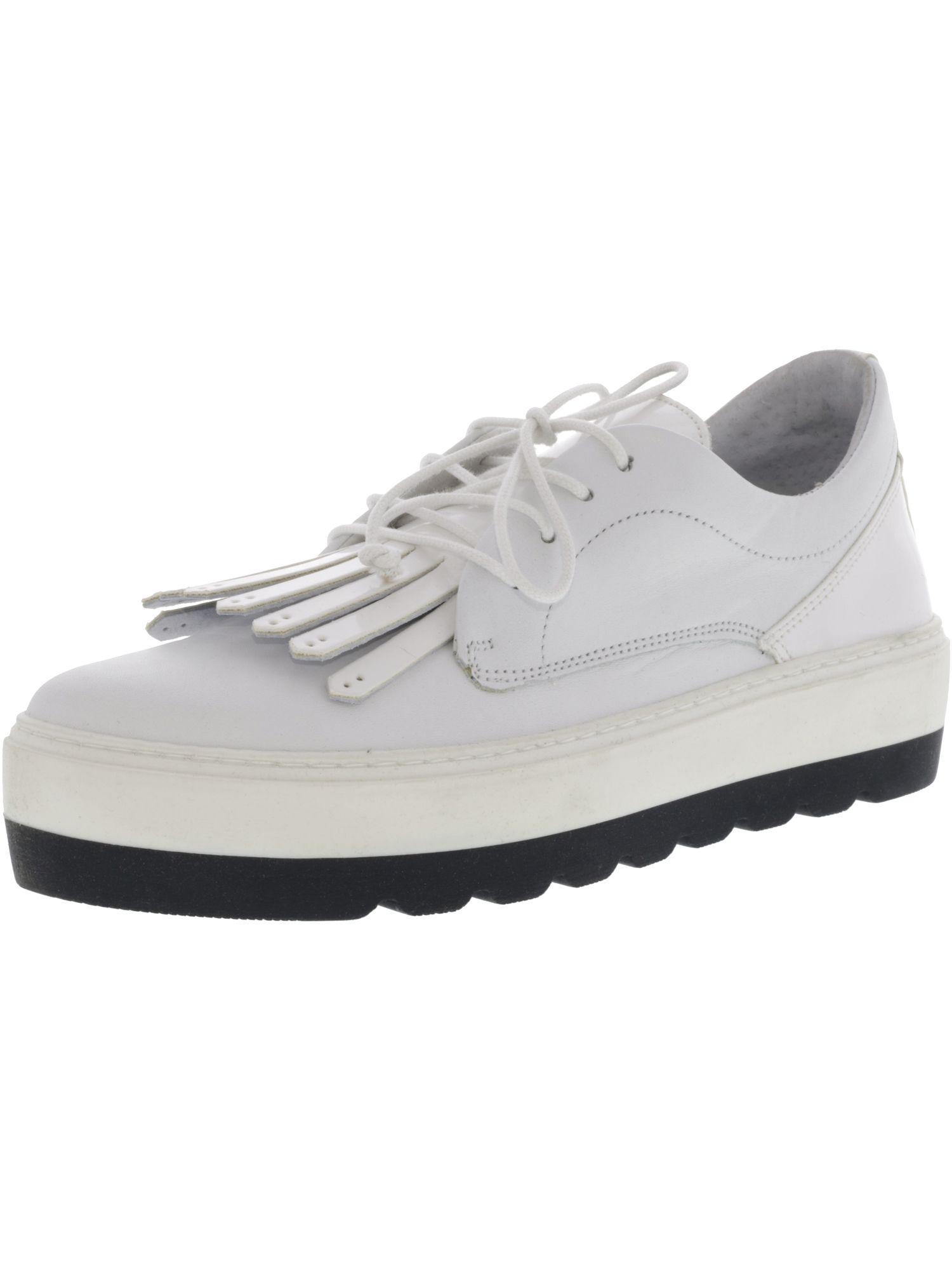05a2ba07d24 Steve Madden. Women s White Venesaa Leather Ankle-high Fashion Sneaker ...