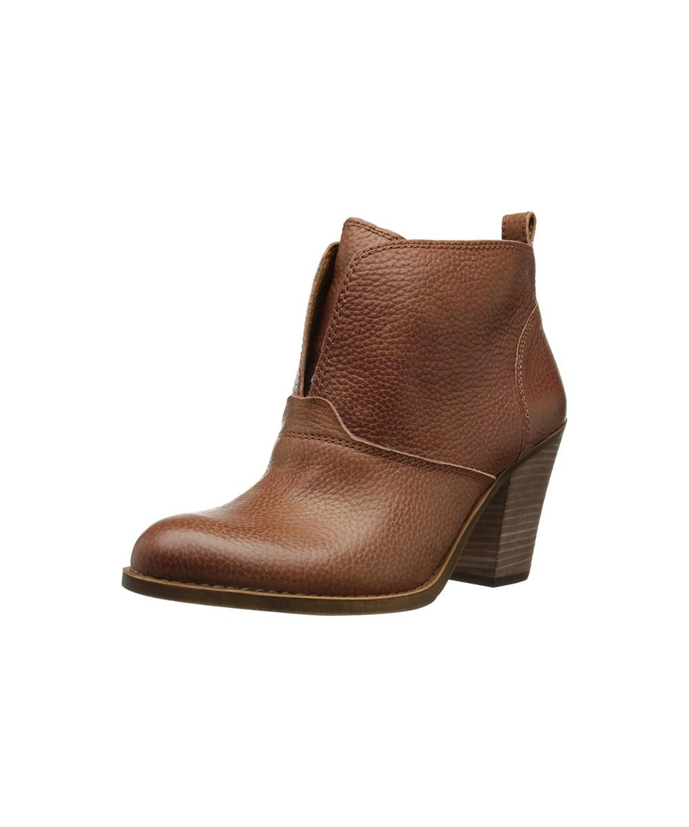 227e378c6584 Lucky Brand. Brown Womens Ehllen Leather Closed Toe Ankle Fashion Boots ...