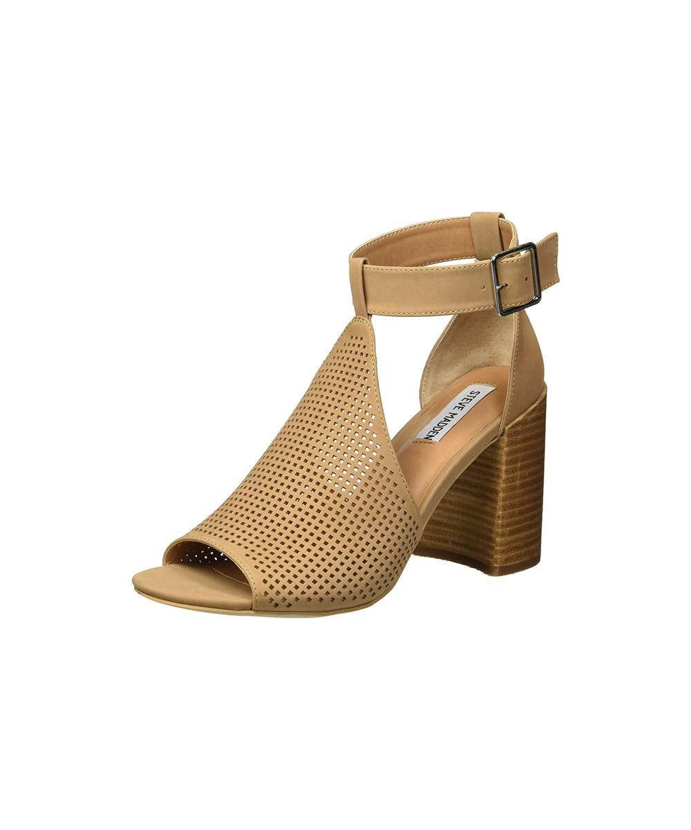 b5803955b7ac Lyst - Steve Madden Women s Sawyer Heeled Sandal in Brown