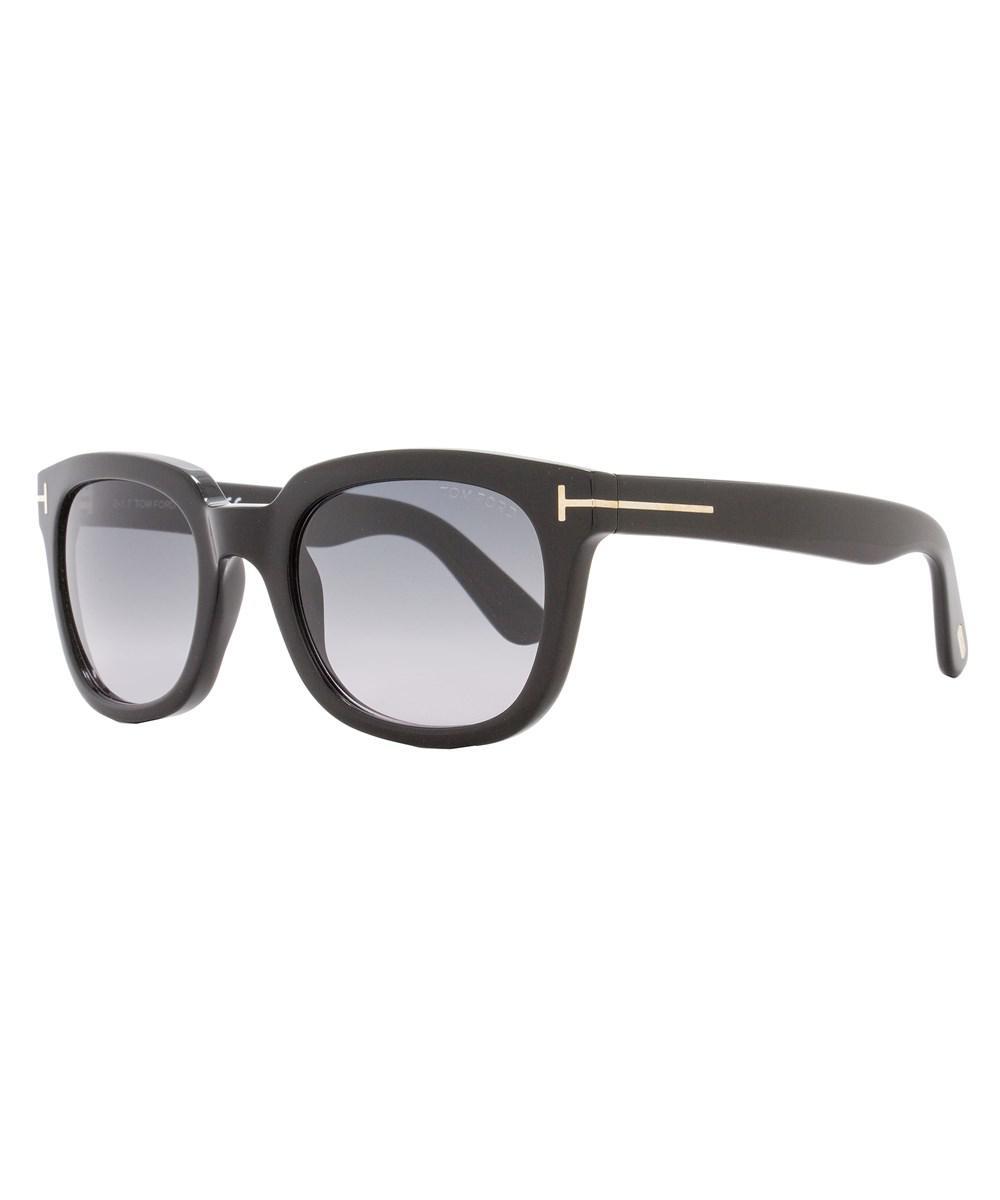 97056e8efeacc Lyst - Tom Ford Square Sunglasses Tf198 Campbell 01b Shiny Black ...