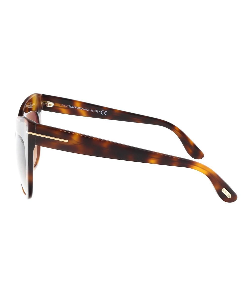 6d2a37dab67b Tom Ford - Brown Ft0523 3f Nika Medium Havana Cat Eye Sunglasses - Lyst.  View fullscreen