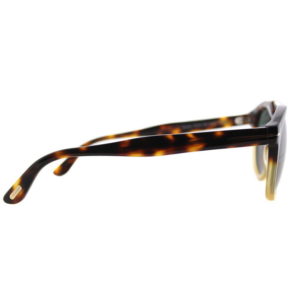7058de4d4f Tom Ford - Multicolor Newman Tf 515 56n Havana Gradient Round Sunglasses -  Lyst. View fullscreen