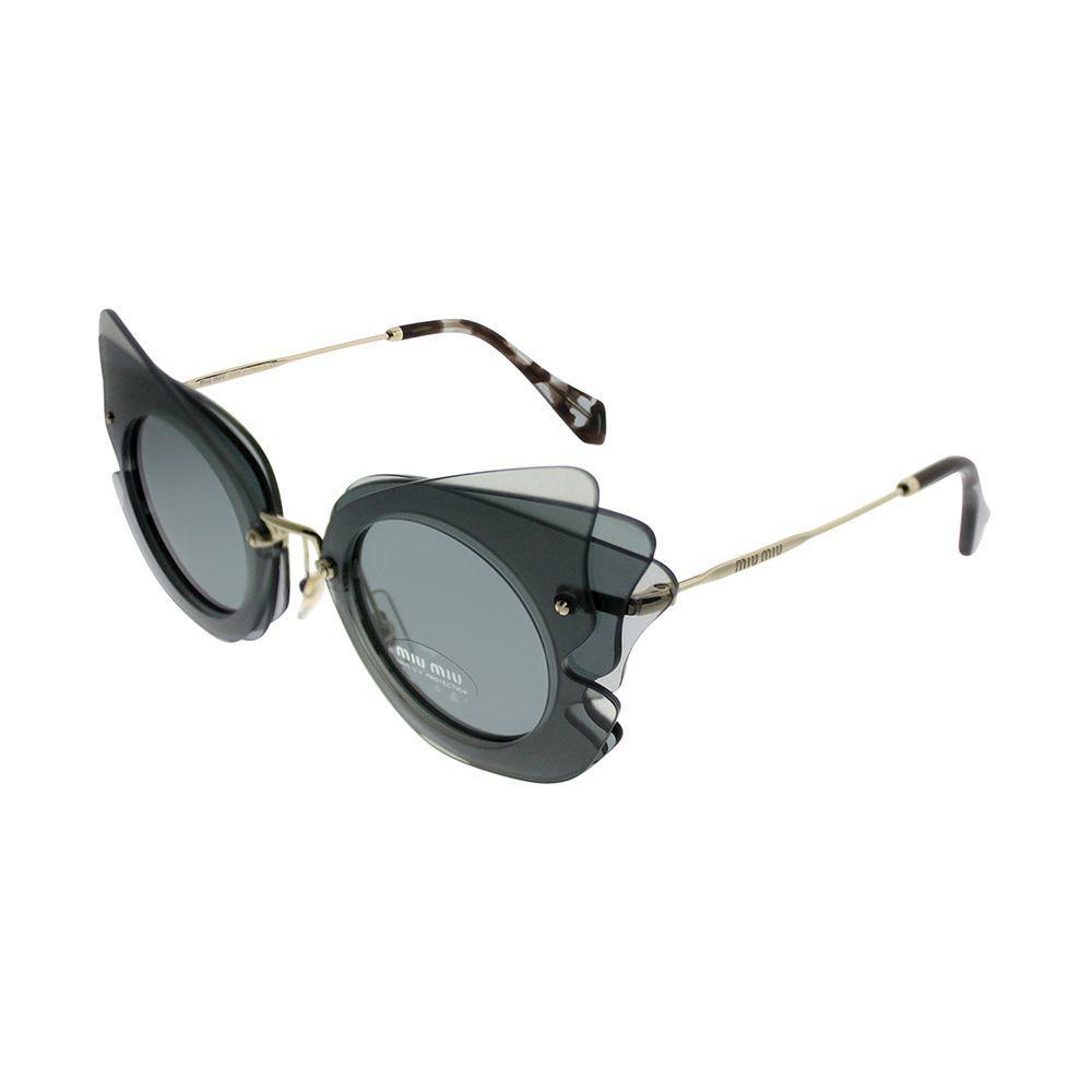 af3c622df48b Lyst - Miu Miu Mu 02ss Va43c2 63mm Dark Grey Cat-eye Sunglasses in Gray