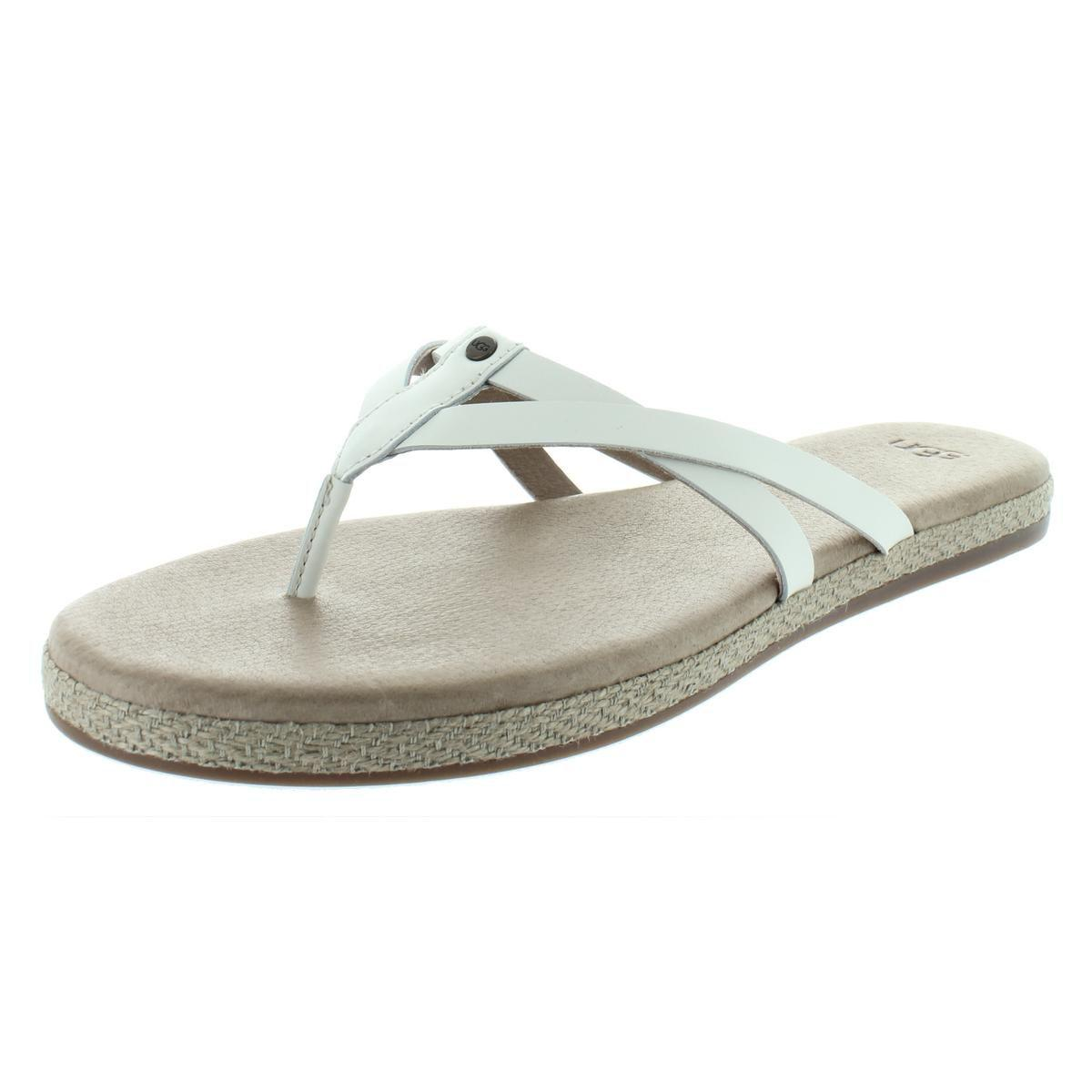 f998e9f4b87 Lyst - Ugg Womens Annice Leather Espadrille Flip-flops in White