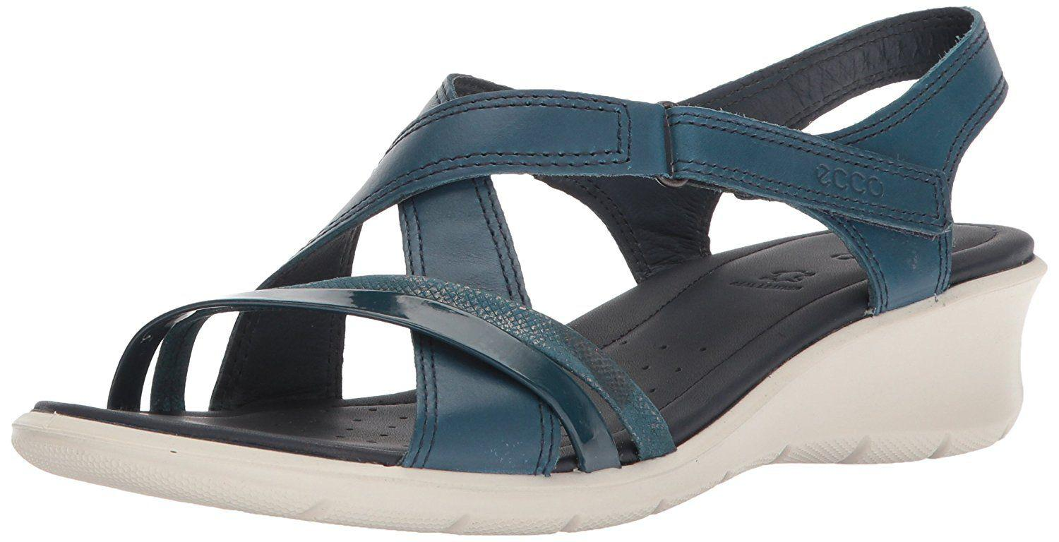 055d01af6446 Lyst - Ecco Womens Felicia Leather Open Toe Casual Slingback Sandals ...