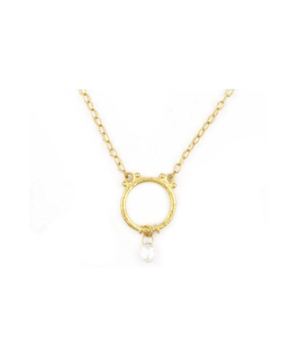 Gurhan Glow 24k Teardrop Diamond Pendant Necklace s9vax